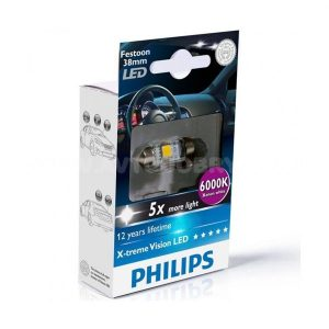 Λάμπα LED 12V 1W σωληνωτή BLUE 6000Κ