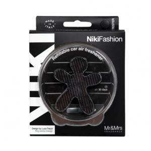 Αρωματικό Αυτοκινήτου Niki Fashion Laminated Silver-Black Bergamot & Iris