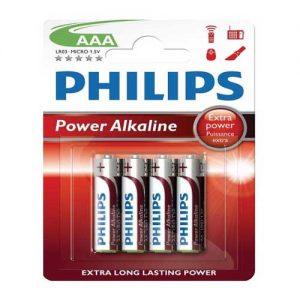 Μπαταρία Αλκαλική Philips LR03 (AAA)